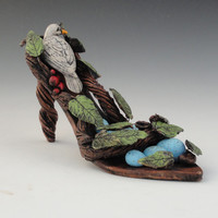 Ceramic Sculpture Birds Nest Shoe Sculpture (ready to ship)