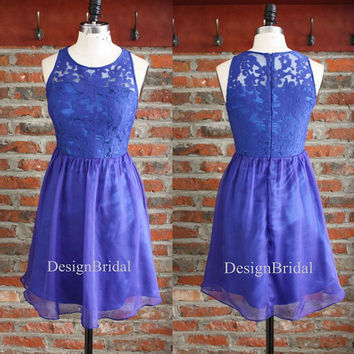 Short Lace Bridesmaid Dress,Graduation Dresses,Summer Dress,Royal Blue Chiffon Dress Gown,Cute Dress Women,Bridesmaid Dresses Chiffon