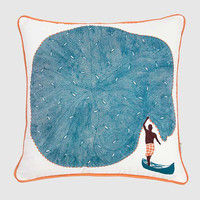SAFOMASI: CATCH OF THE DAY PRINT CUSHION COVER
