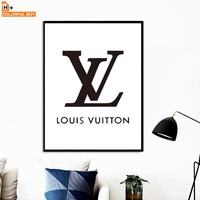 COLORFULBOY LV Quotes Canvas Art Wall Painting Black White Posters And Prints Pop Art Paintings For Living Room Wall Pictures