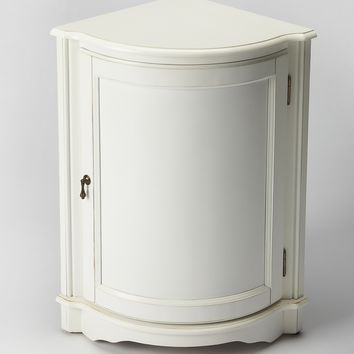 Durham Cottage White Corner Cabinet by Butler Specialty Company 2115222