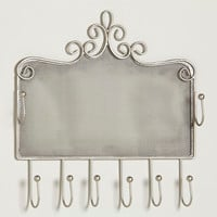Pewter Wall Jewelry Holder with Hooks - World Market