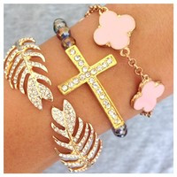Faithful & Beautiful Bracelet Set- Tanya Kara Jewelry