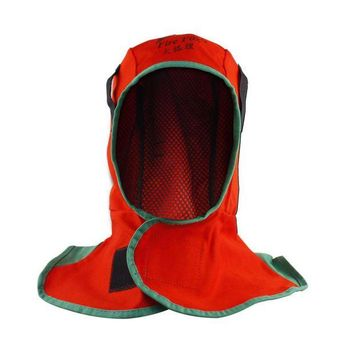 ONETOW welding cap,  Fire fox red flame retardant cloth Welder cap Welding Hood,  thin breathable water wash FR welding hat
