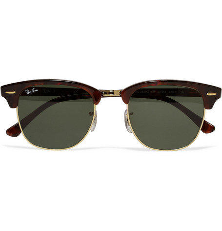 Ray-BanClubmaster Acetate and Metal Sunglasses MR PORTER