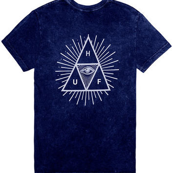 The Third Eye Trple Tri Wash Tee in Navy