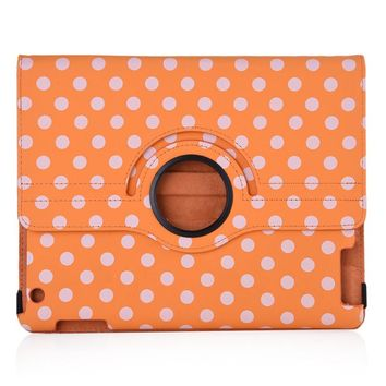Quality Case for iPad Mini 1 /  2 / 3  Polka Dot Pattern Protective Cover 360 Degree Rotating Leather Case with Standby Function