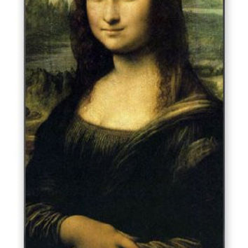 The Mona Lisa Themed Art Portrait iPhone 5 Quality Hard Snap On Case for iPhone 5/5s - AT&T Sprint Verizon - Black Frame