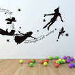 Peter pan, second star to the right wall decal, mural, stickers, wall art
