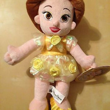 "disney fairy tale princess 12"" baby belle toddler plush toy new with tag"