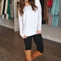 Dolman Tunic- White