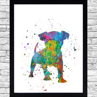 Wall Art Print Watercolor Printable Art, Puppy Wall Art Download, Puppy Wall Decor, Puppy Print, Dog Animal Watercolor Paint Splatter Art