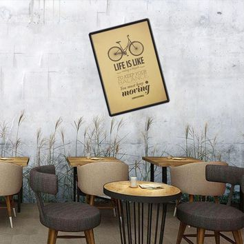 Life is Like Riding a Bicycle Cafe Bar Wall Sticker