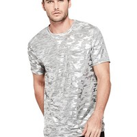 Foil Camo Crewneck Tee at Guess