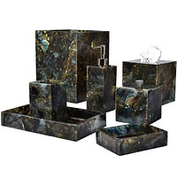 Taj Labradorite Bath Accessories by Mike + Ally