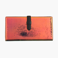 J.Crew Womens Iridescent Hologram Travel Wallet