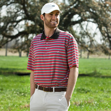 The Bermuda Performance Polo - Warwick Stripe - Collegiate - University of Louisiana at Lafayette