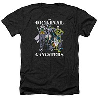 Mens DC Comics Original Gangsters Heathered Tee Shirt