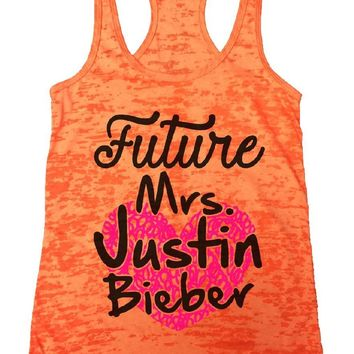 Future Mrs. Justin Bieber Burnout Tank Top By Funny Threadz