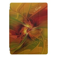 Abstract Red Orange Brown Green Fractal Art Name iPad Pro Cover