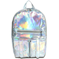 HOLOGRAPHIC BACKPACK, GALAXY HOLOGRAM HOLOGRAPHIC BACKPACK from Storeunic