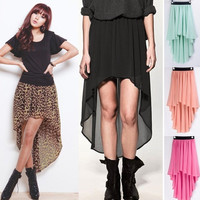 HOT! Sexy Lady Chiffon Pleated Retro Long Maxi Dress Elastic Waist Skirt Belt Ca  Z_G = 1947040772