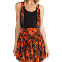 Tallow Mudhoney Overall Skirt in Orange