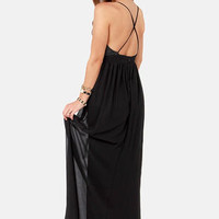 LULUS Exclusive Midnight Rider Black Maxi Dress