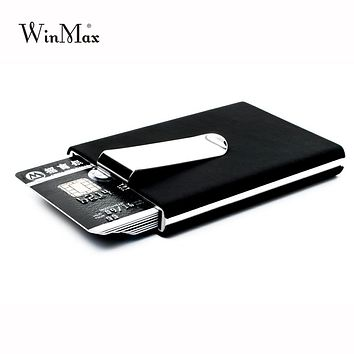 Credit Card Holder Waterproof Cash Money Pocket Box Aluminum Business Men Women ID Card Holder Gift Wallets