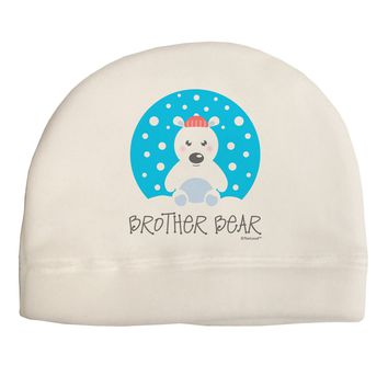 Matching Polar Bear Family - Brother Bear Child Fleece Beanie Cap Hat by TooLoud