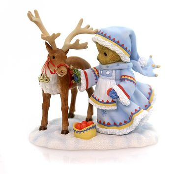 Cherished Teddies Nothing More Deer To Me Than You Christmas Figurine