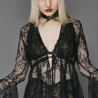 Prayer Long Sleeved Lace Top