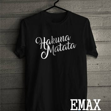 Hakuna Matata Tshirt disney tshirt family inspired clothes, disney shirts unisex 100% cotton t shirt