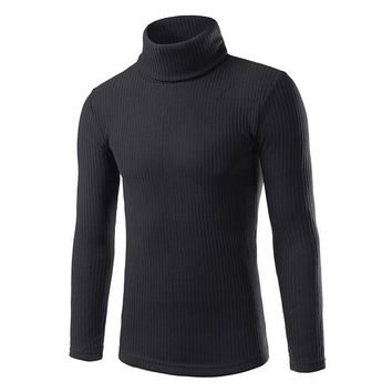 2016 New Autumn/winter Fashion Brand Casual Sweater Turtleneck Striped Slim Fit Knitting Mens Sweaters & Pullovers Men Pullover