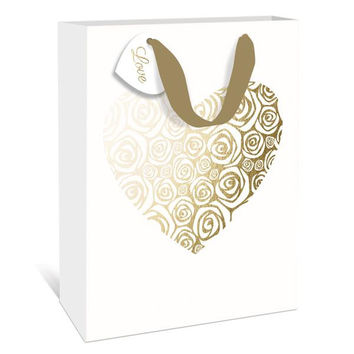 Rose Heart Gift Bag - Small