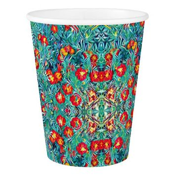 Tagetes / Marigold Flowers Pattern Paper Cup