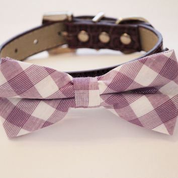 Lavender Dog Bow tie, dog collar,  Dog wedding Accessory