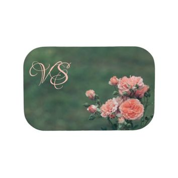 Beautiful pink roses. Add monogram. Lunch Box