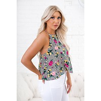 All Together Floral Top (Black)