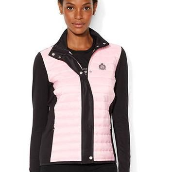 Lauren Ralph Lauren Quilted Color Blocked Jacket