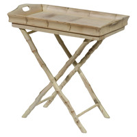 Butler Tray Table, Antiqued White