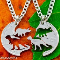 Dinosaurs Rrelationship Necklace Set