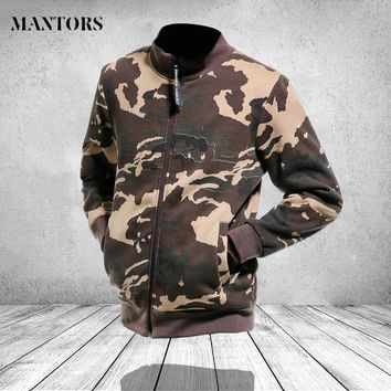 Camouflage Bomber Jacket Men Clothes 2018 Autumn Casual Army Military Slim Fit Zipper Coats Pilot Men Hip Hop Jackets Streetwear