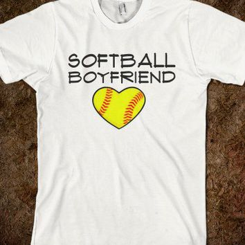Softball Boyfriend T-shirt-Unisex White T-Shirt