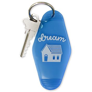 Dream House Motel Keychain in Blue