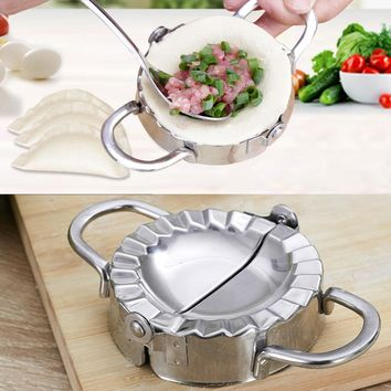 Hot Eco-Friendly Pastry Tools Stainless Steel Dumpling Maker Wrapper Dough Cutter Pie Ravioli Dumpling Mould Kitchen Accessories