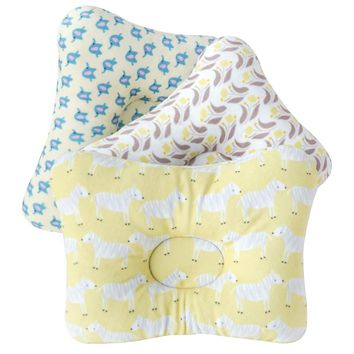 Muslinlife Baby Infants Cotton Shaping Pillow Printed Baby Neck Head Cushion Newborn Sleep Shaping Pillow Decoration Dropship