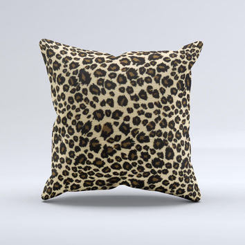 Small Vector Cheetah Animal Print Ink-Fuzed Decorative Throw Pillow