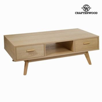 Oak coffee table with 2 drawers - Modern Collection by Craften Wood