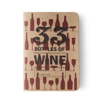 33 Books Co. 33 Bottles of Wine Tasting Notebook | Bespoke Post
